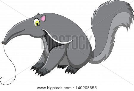 cute anteater cartoon sitting for you design