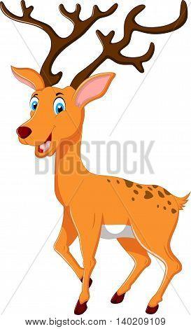 cute deer cartoon posing for you design