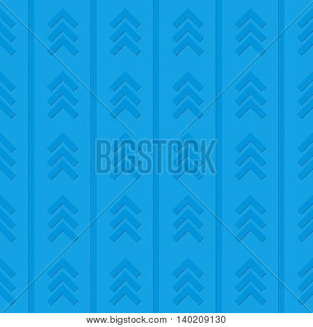 Blue abstract background image with arrows and lines.