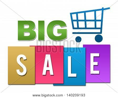 Big sale concept image with text and related symbols.