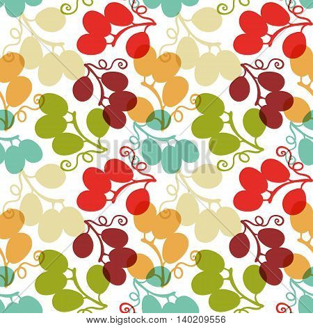 Seamless Pattern with Grape, vector illustration, can be used for wallpaper, web page background, greeting cards, poster, fabric print