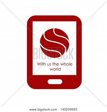Badge and label for mobile advertising company or mobile phone. It can be used as a sticker on the clothes or other