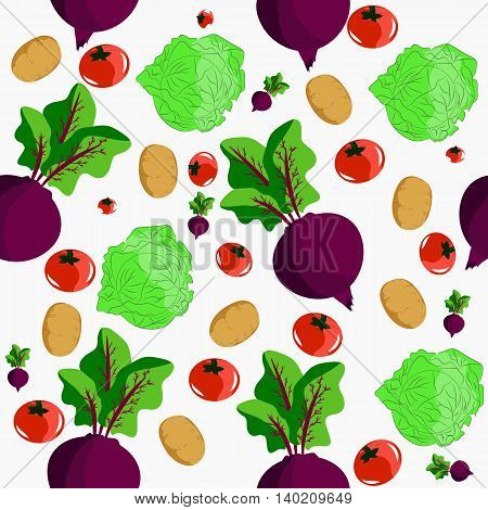 Seamless with tomato onion and other vegetables. It can be used for decoration kitchen accessories tablecloths fabrics cutting boards or other
