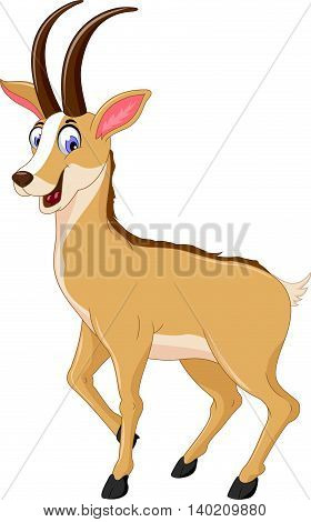 cute chamois cartoon smiling for you design