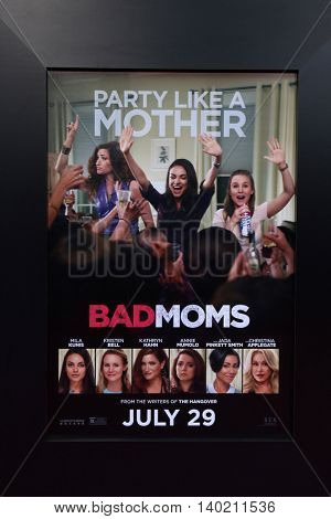 LOS ANGELES - JUL 26:  Bad Moms Poster at the