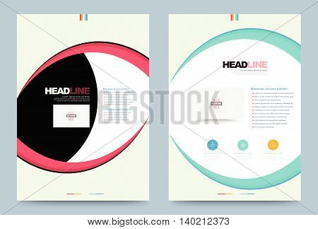 Business annual report brochure flyer design template vector eye style. Leaflet cover presentation abstract geometric background, modern publication poster magazine, layout in A4 size