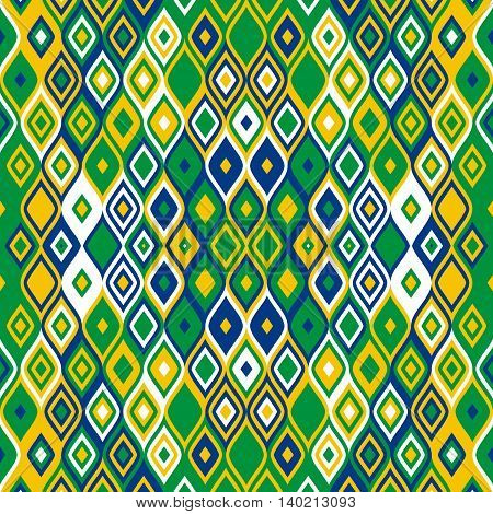 Abstract geometrical background template - brazilian mosaic or carpet texture design