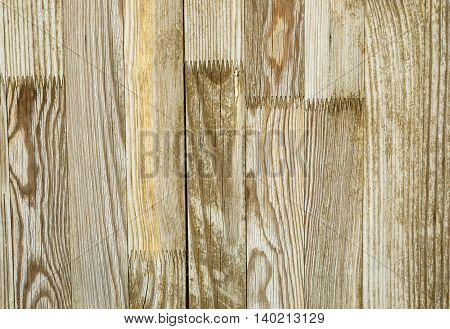 Wooden planks with different texture and color