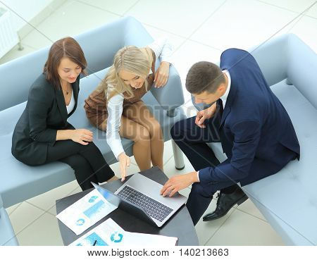 group of successful business people. Discussion  the importa