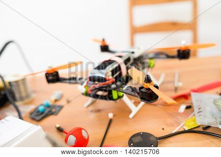 Finishing of building drone