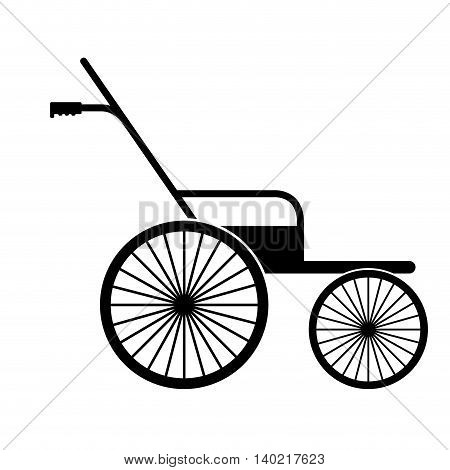 wheelchair for disabled person isolated icon design, vector illustration  graphic