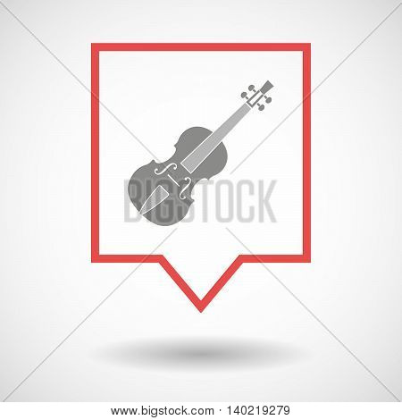 Isolated Line Art Tooltip Icon With  A Violin