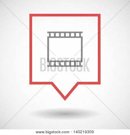 Isolated Line Art Tooltip Icon With   A Photographic 35Mm Film Strip
