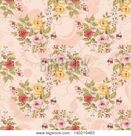 Seamless floral pattern with flowers Vector Illustration EPS8
