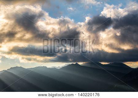 Breathtaking Atmosphere Of Mountain Sunrise