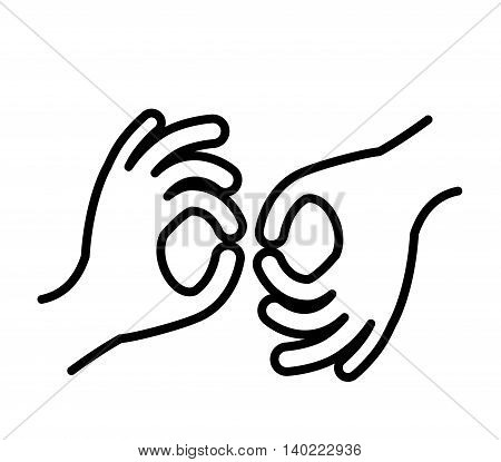 sign language isolated icon design, vector illustration  graphic