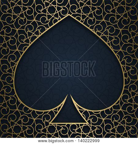Traditional ornamental background with frame in peak form