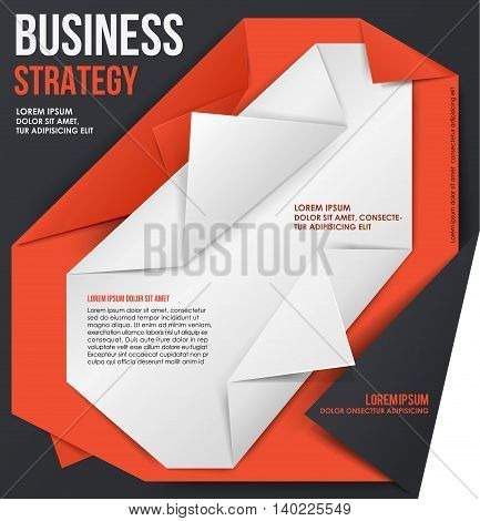 Business Strategy. Can use for web banners and printed materials. Vector template.