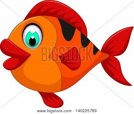 funny cute fish cartoon for you design
