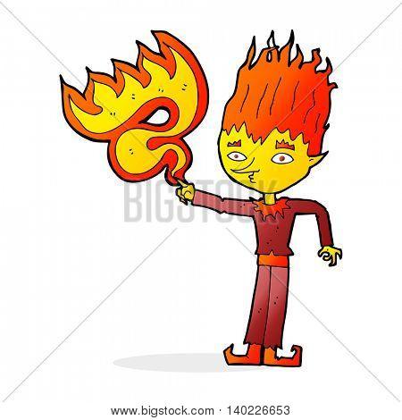 fire spirit cartoon