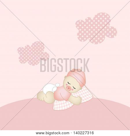 Scalable vectorial image representing a baby girl background.