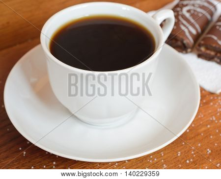fresh coffee for breakfast along with sweets