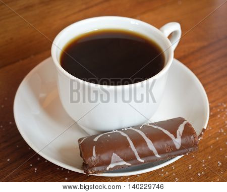 hot coffee for breakfast along with sweets