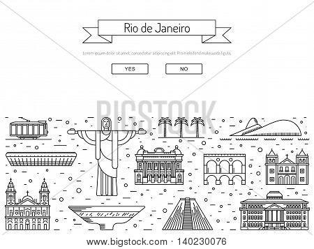 Buildings and landmarks of the Brazilian city of Rio de Janeiro.