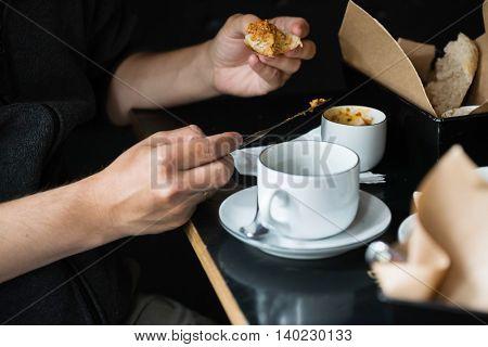 breakfast in the coffee shop