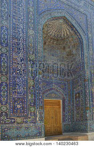 Samarkand Uzbekistan - July 03 2014: Shohizinda - a monument of medieval architecture in Samarkand ensemble of mausoleums of the Samarkand nobility.