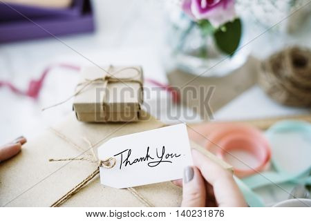 Gift Present Box Greeting Celebration Concept
