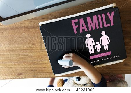 Family Care Genealogy Love Related Home Concept
