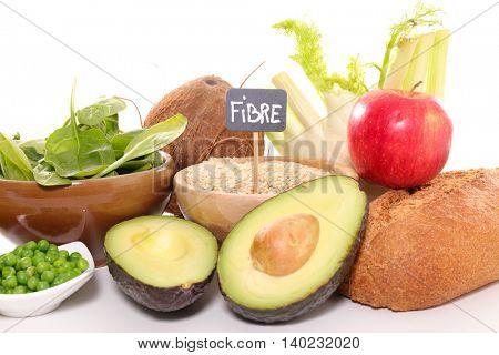 assorted fiber food