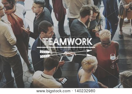 Team Teamwork Teambuilding Synergy Empower Concept