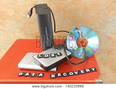 Destroyed DVD disc and lost data on hard drives
