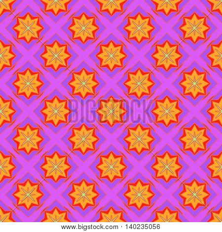 Multicolored geometric traditional new seamless pattern for background.