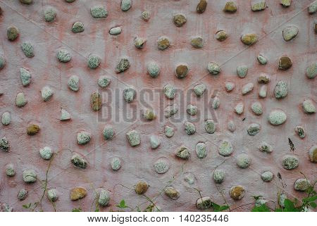 The pebble stone floors, textures use as background