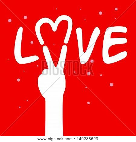 Vector stock of hand forming love and peace sign