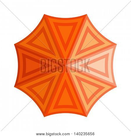 Umbrella top vew vector illustration.