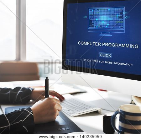 Computer Programming Data Digital Coding Concept