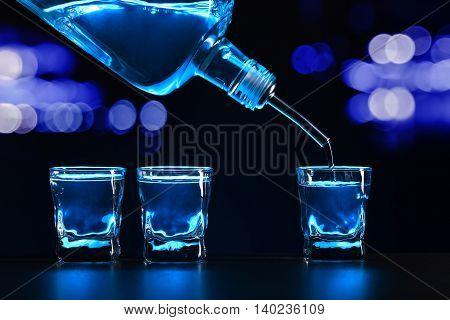 Vodka On Black Table