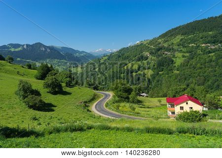 Lonely House In A Highland With Giresun Turkey