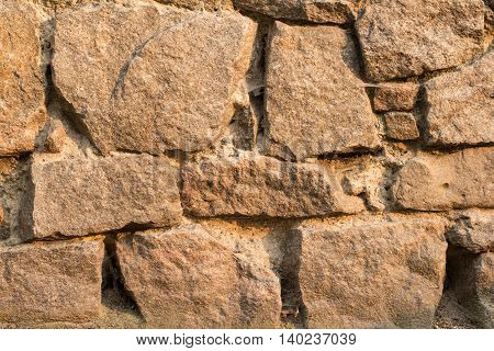texture Ancient masonry castle. Ukraine Kiev. vintage background