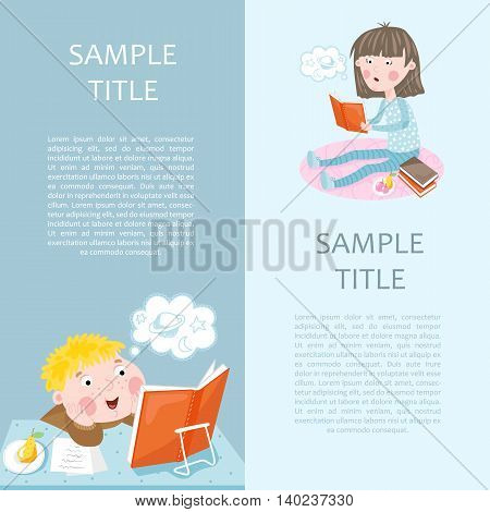 Back to school banner vector illustration. Concept icons of education and learning. Knowledge sign.