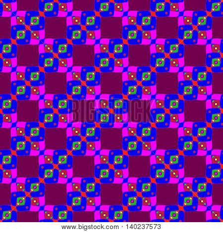 Colorful abstract geometric seamless pattern for background.