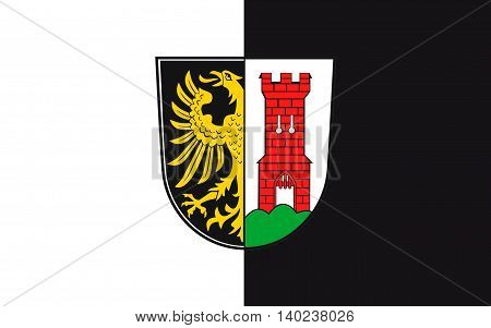 Flag of Kempten is the largest town of Allgaeu in Swabia Bavaria Germany