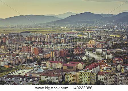 Aerial Brasov Cityscape