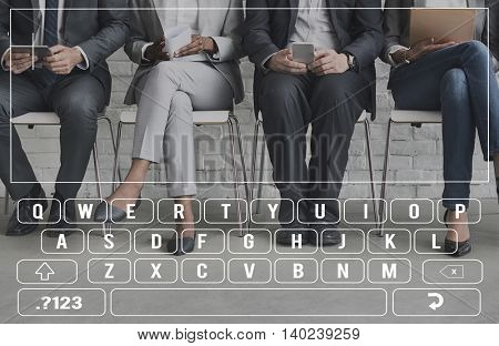 Search Keyboard Typing Graphic Concept