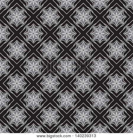 Black and white new geometric seamless pattern.
