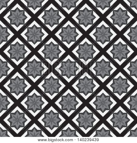 Black and white geometric new seamless pattern.